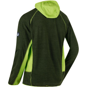 Regatta Cartersville IV Fleece Jacket Men Racing Green/Lime Green